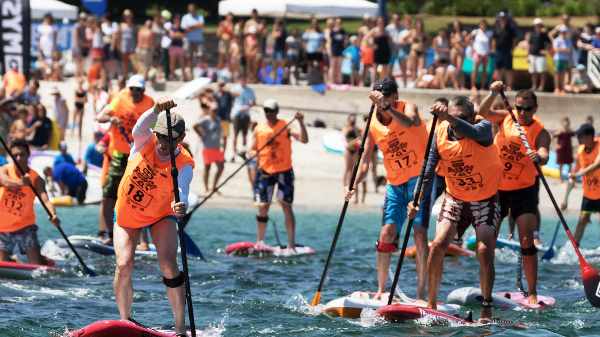 depart course SUP Beg Meil Paddle Cup