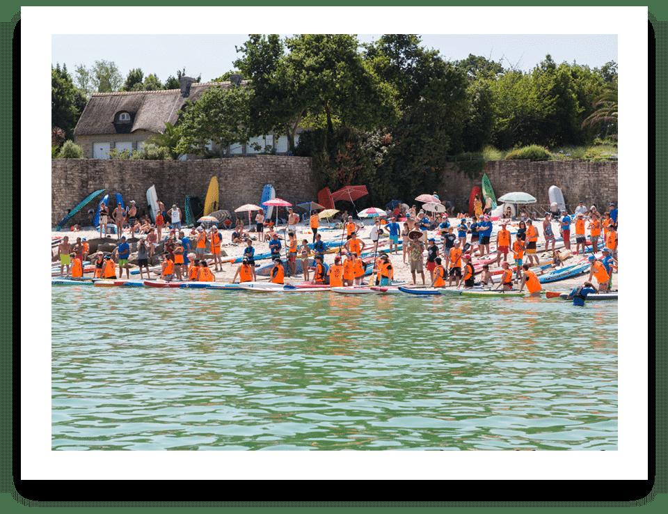 Beg-Meil Paddle Cup - départ course cale de Beg-Meil